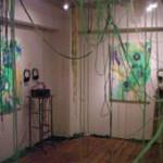 ミュージシャンHARCOと音と絵のコラボ展。東京、福岡、大阪、広島と巡回展を行った。